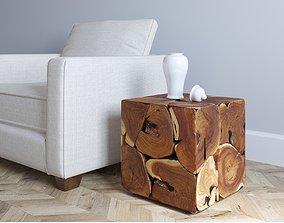 Coffee Table Box Teak 3D model