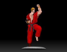 KEN - STREET FIGHTER 3D Printer Model samurai