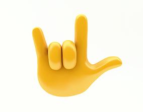 3D asset EMOJI HAND ROCK ICON
