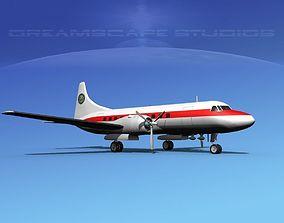 3D model Convair CV-340 Federal Aviation Admin