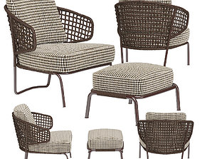 3D Garden furniture Aston Cord Outdoor Ottoman Minotti