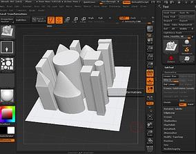 3D model Buildings Brush