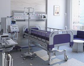 interior Medical Patient Room 3D model