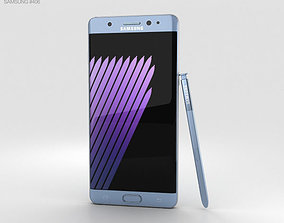 3D model Samsung Galaxy Note 7 Blue Coral