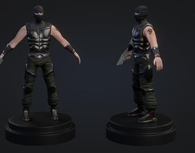 Terrorist Man Character 3D asset