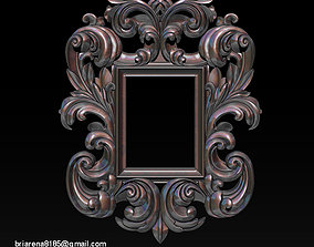 Mirror classical carved frame 3d Reliefs for cnc routers