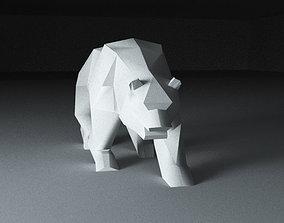 3D printable model Bear low poly