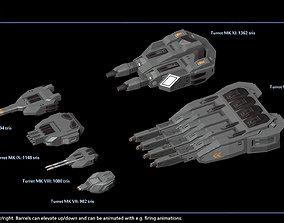 3D asset Modular Spaceship Weapons