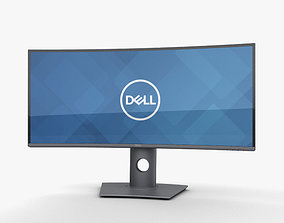 3D model Dell 34-inch Curved Monitor U3419W