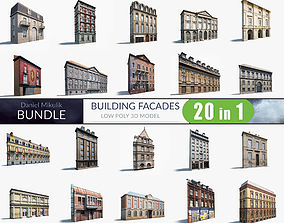 Building Facades BUNDLE 3D model realtime