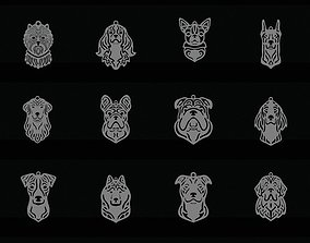 3D print model My dog pendant collection