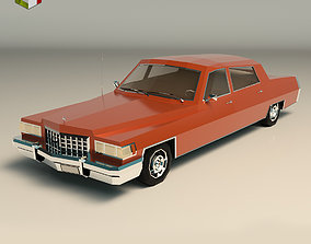 3D asset Low Poly Sedan Car 09
