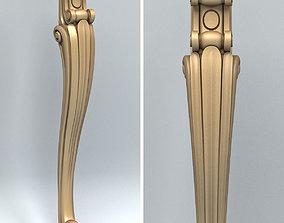 3D carving Furniture leg 004