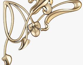 3D art nouveau decor for cnc