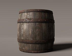 Old West Barrel 3D asset