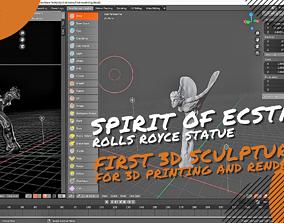 Spirit of Ecstasy Rolls Royce Statue 3D asset