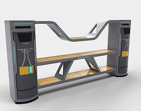 Sci-fi Closet Shelf 3D model