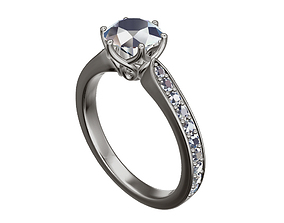 luxury precious engagement ring 3D print model