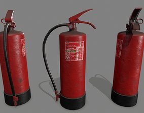 fire extinguisher 3D model realtime foam