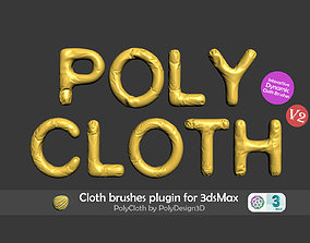 PolyCloth V2 ClothBrush Plugin for 3dsMax 3dsmax