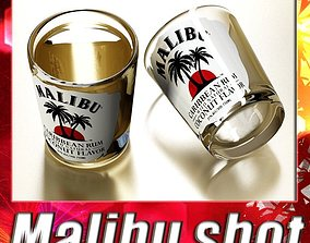 3D model Malibu Shot Glass - High Detailed