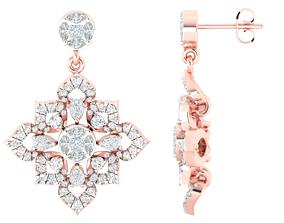 Women earrings 3dmstl render detail 3D print model