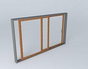 glass 3D Slide window