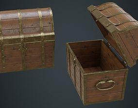 3D asset Wooden Chest 1B
