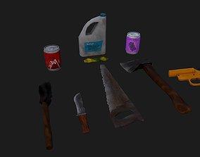 3D asset Stylized survival pack