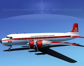 Douglas DC-7C Cal Dep Forestry 3D model