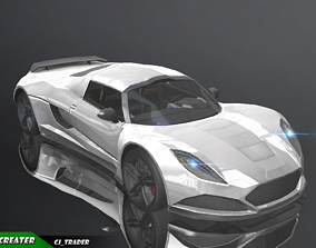 Lowpoly McLaren F1 GTR Type Racing Car 3D Model realtime