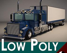 3D asset Low-Poly Cartoon Lorry Truck