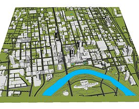 3D model Downtown Columbus Ohio
