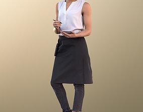 3D asset Diana 10888 - Female Waitress Taking Order