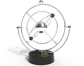 3D asset Magnetic Pendulum rotating eternal balls