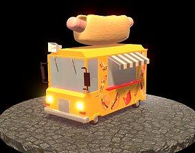 hot dog car 3D asset