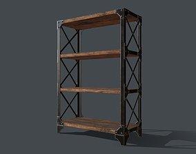 3D model Industrial Style Bookshelf for PBR Challenge - 1