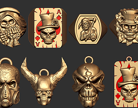 3D Skull Jewel Collection