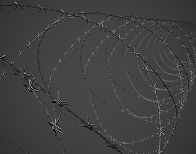 Barbed Wire Pack PBR Game Ready 3D model