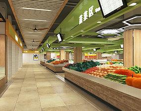 3D model Food Market or Grocery Store or Supermarket