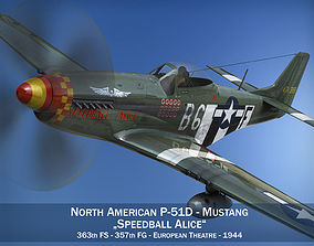 3D model North American P-51D Mustang - Speedball Alice