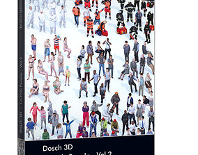 VR / AR ready Dosch 3D - Lo-Poly People Vol 2