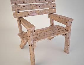 Garden Chair 3D asset