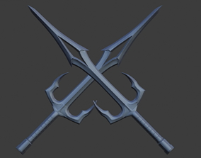 3D print model Mileena weapon Sai daggers like as from 2
