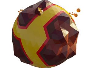 3D model game-ready Lava Planet