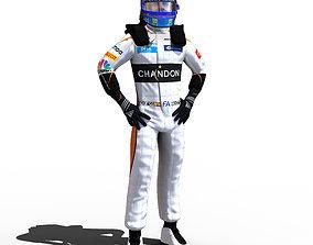3D model Fernando Alonso 2018