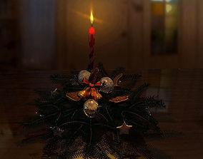 cookies Christmas Wreath 3D model
