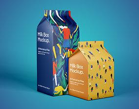carton 3D model Milk Box