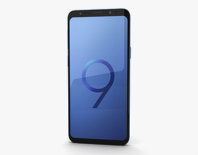 screen 3D model Samsung Galaxy S9 Coral Blue