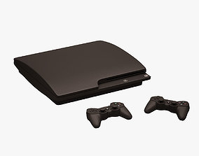 3D model VR / AR ready Sony Ps3 and Controllers 002